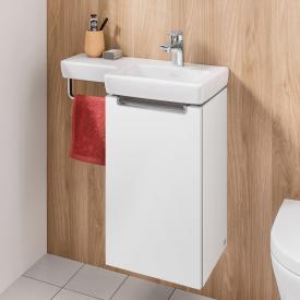 Villeroy & Boch Subway 2.0 Handwaschbeckenunterschrank mit 1 Tür Front weiß matt / Korpus weiß matt, Griff silber matt