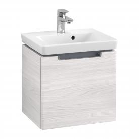 Villeroy & Boch Subway 2.0 Handwaschbeckenunterschrank mit 1 Auszug Front white wood / Korpus white wood, Griff chrom