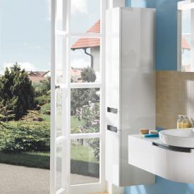 Villeroy & Boch Subway 2.0 Hochschrank mit 2 Türen und 1 Schublade Front glossy white / Korpus glossy white, Griff chrom