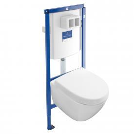 Villeroy & Boch Subway 2.0 Komplett-Set Wand-Tiefspül-WC Compact, offener Spülrand weiß mit CeramicPlus