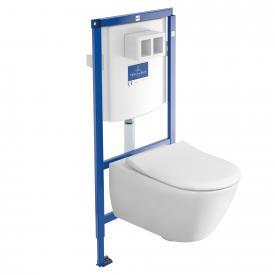 Villeroy & Boch Subway 2.0 Komplett-Set Wand-Tiefspül-WC, offener Spülrand, DirectFlush weiß mit CeramicPlus und AntiBac