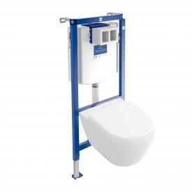 Villeroy & Boch Subway 2.0 & ViConnect NEU Komplett-Set Wand-Tiefspül-WC Compact, offener Spülrand weiß, mit CeramicPlus