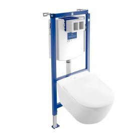 Villeroy & Boch Subway 2.0 & ViConnect NEU Komplett-Set Wand-Tiefspül-WC, offener Spülrand weiß, mit CeramicPlus und AntiBac