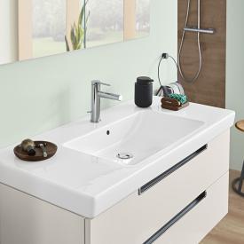 Villeroy & Boch Subway 2.0 Waschtisch weiß mit CeramicPlus mit 1 Hahnloch, ungeschliffen, mit Überlauf