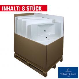Villeroy & Boch Subway 2.0 Waschtisch mit Überlauf, 8 Stück weiß mit 1 Hahnloch