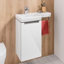 Villeroy & Boch Subway 2.0 Waschtischunterschrank mit 1 Tür Front glossy white / Korpus glossy white, Griff chrom