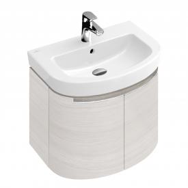 Villeroy & Boch Subway 2.0 Waschtischunterschrank mit 2 Türen Front white wood / Korpus white wood, Griff silber matt
