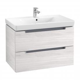Villeroy & Boch Subway 2.0 Waschtischunterschrank XL mit 2 Auszügen Front white wood / Korpus white wood, Griff chrom