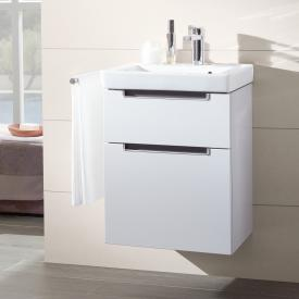 Villeroy & Boch Subway 2.0 Waschtischunterschrank XXL mit 2 Auszügen Front glossy white / Korpus glossy white, Griff chrom