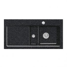 Villeroy & Boch Subway 60 Spüle mit Excenterbetätigung B: 100 T: 51 cm, Becken rechts chromit glanz/Position Lochbohrungen 1 und 2
