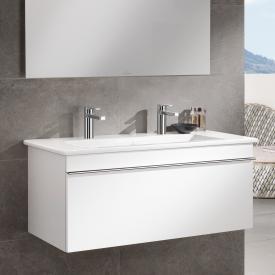 Villeroy & Boch Venticello Doppel-Möbelwaschtisch stone white mit CeramicPlus mit 2 Hahnlöchern durchgestochen