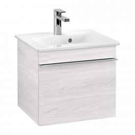 Villeroy & Boch Venticello Handwaschbecken mit Waschtischunterschrank mit 1 Auszug Front white wood / Korpus white wood, Griff chrom, WT weiß