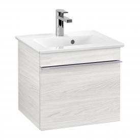 Villeroy & Boch Venticello Handwaschbeckenunterschrank mit 1 Auszug Front white wood / Korpus white wood, Griff chrom