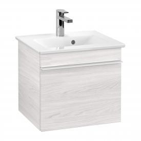 Villeroy & Boch Venticello Handwaschbeckenunterschrank mit 1 Auszug Front white wood / Korpus white wood, Griff weiß