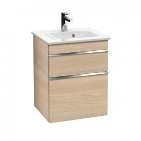 Villeroy & Boch Venticello Handwaschbeckenunterschrank XXL mit 2 Auszügen Front ulme impresso / Korpus ulme impresso, Griff chrom