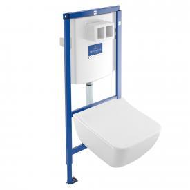 Villeroy & Boch Venticello Komplett-Set Wand-Tiefspül-WC, offener Spülrand, DirectFlush weiß mit CeramicPlus