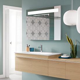 Villeroy & Boch Venticello Waschtisch mit Waschtischunterschrank und More to See 14 Spiegel Front nordic oak/verspiegelt / Korpus nordic oak/aluminium matt, Griff weiß