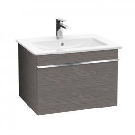 Villeroy & Boch Venticello Waschtischunterschrank mit 1 Auszug Front eiche graphit / Korpus eiche graphit, Griff chrom