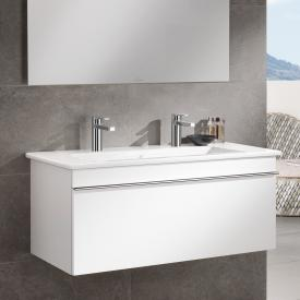 Villeroy & Boch Venticello Waschtischunterschrank mit 1 Auszug Front glossy white / Korpus glossy white, Griff chrom