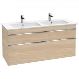 Villeroy & Boch Venticello Doppel-Waschtischunterschrank XXL mit 4 Auszügen Front ulme impresso / Korpus ulme impresso, Griff chrom