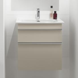 Villeroy & Boch Venticello Waschtischunterschrank XXL mit 2 Auszügen Front soft grey / Korpus soft grey, Griff chrom