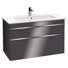 Villeroy & Boch Venticello Waschtischunterschrank XXL mit 2 Auszügen Front glossy grey / Korpus glossy grey, Griff chrom