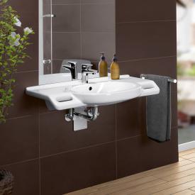 Villeroy & Boch ViCare Waschtischmit integrierten Griffen, unterfahrbar weiß mit CeramicPlus und AntiBac