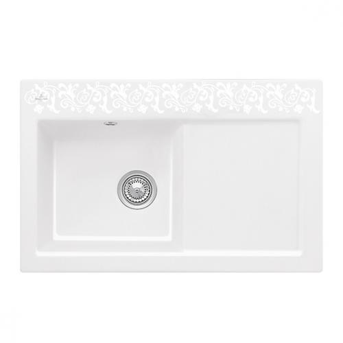 villeroy boch subway 45 sp le mit handbet tigung b 78 t 51 cm becken links white pearl. Black Bedroom Furniture Sets. Home Design Ideas
