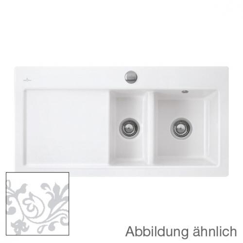 villeroy boch subway 60 xr sp le mit excenterbet tigung b 100 t 51 cm becken rechts white. Black Bedroom Furniture Sets. Home Design Ideas