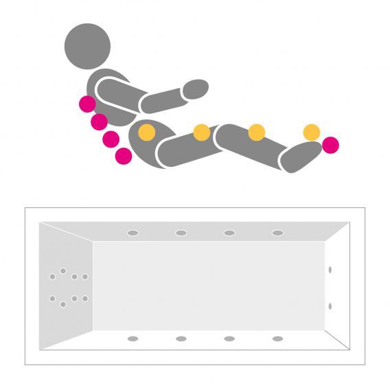 Villeroy & Boch Architectura Duo Rechteck Badewanne Whirlpoolsys weiß mit HydroPool Comfort