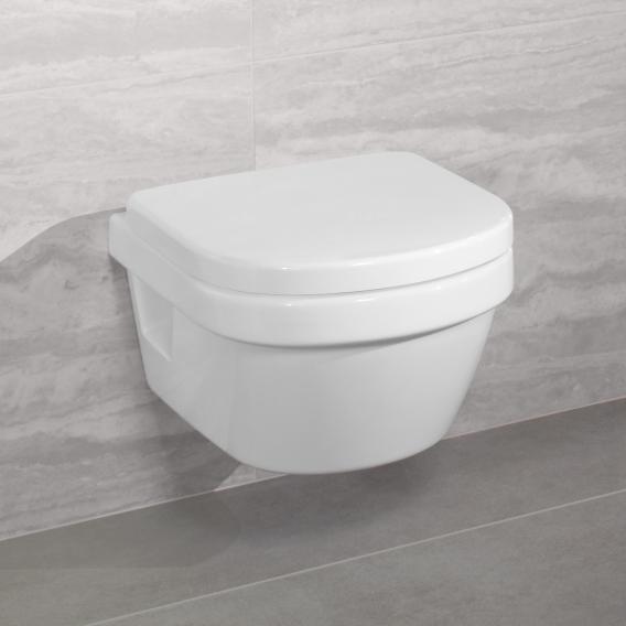 Villeroy & Boch Architectura Wand-Tiefspül-WC XL offener Spülrand, DirectFlush weiß, mit CeramicPlus