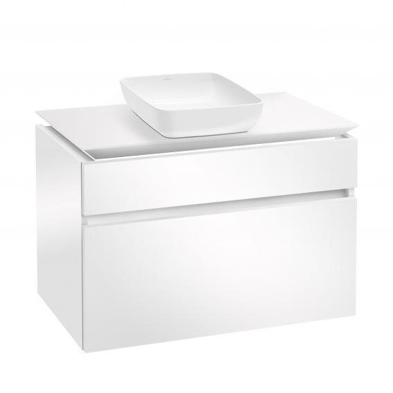 Villeroy & Boch Artis Aufsatzwaschtisch mit Legato LED-Waschtischunterschrank mit 2 Auszügen