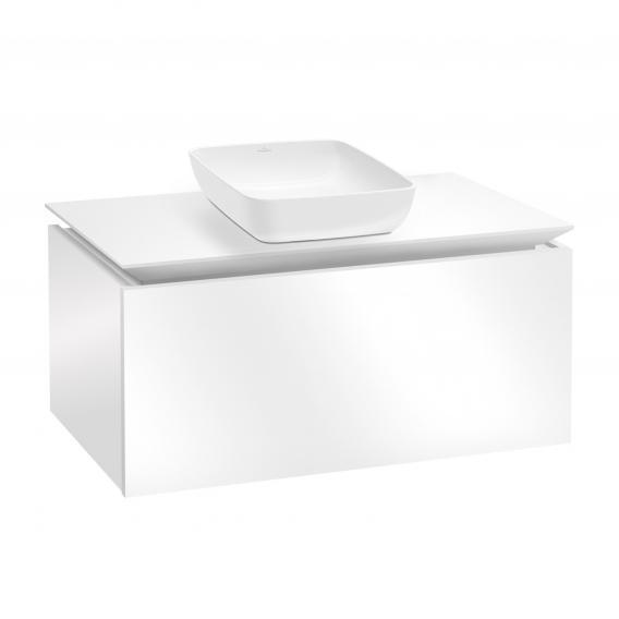 Villeroy & Boch Artis Aufsatzwaschtisch mit Legato Waschtischunterschrank mit 1 Auszug