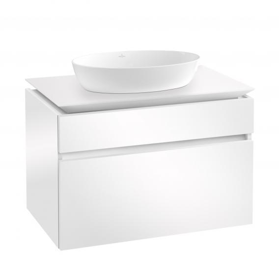 Villeroy & Boch Artis Aufsatzwaschtisch mit Legato Waschtischunterschrank mit 2 Auszügen