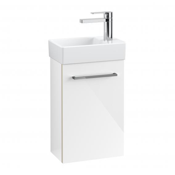 Villeroy & Boch Avento Handwaschbeckenunterschrank mit 1 Tür Front crystal white / Korpus crystal white
