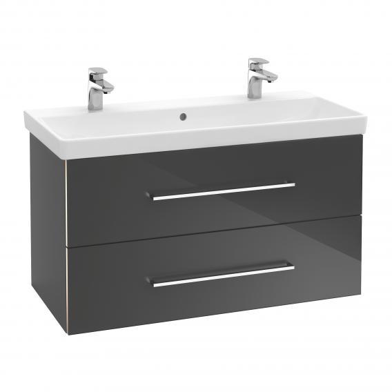 Villeroy & Boch Avento Möbelwaschtisch weiß, mit Ceramicplus, mit Überlauf