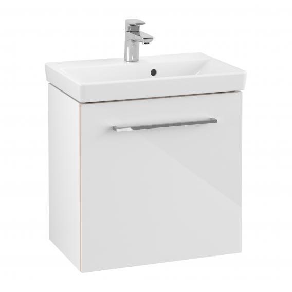 Villeroy & Boch Avento Waschtisch mit Waschtischunterschrank mit 1 Tür weiß, mit CeramicPlus, mit Überlauf