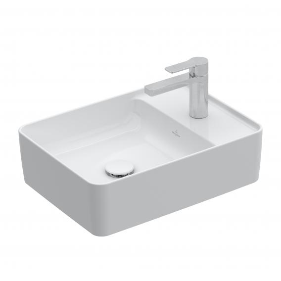 Villeroy & Boch Collaro Aufsatzwaschtisch weiß mit CeramicPlus, mit 1 Hahnloch