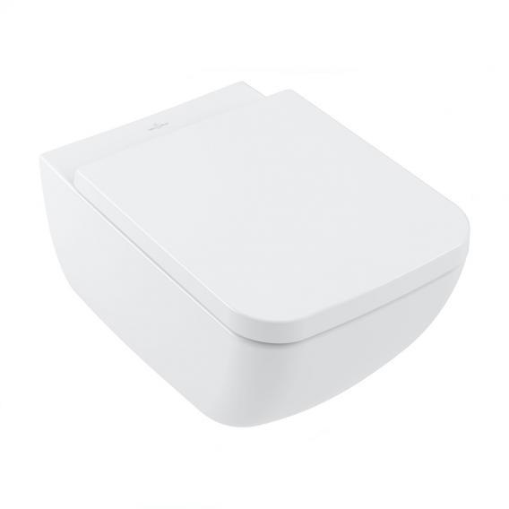 Villeroy & Boch Collaro Wand-Tiefspül-WC, DirectFlush, mit WC-Sitz, Combi-Pack stone white, mit CeramicPlus