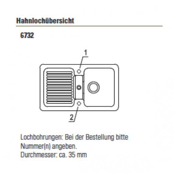 Villeroy & Boch Condor 50 Spüle mit Handbetätigung B: 86 T: 51 cm graphit/ohne Lochbohrung