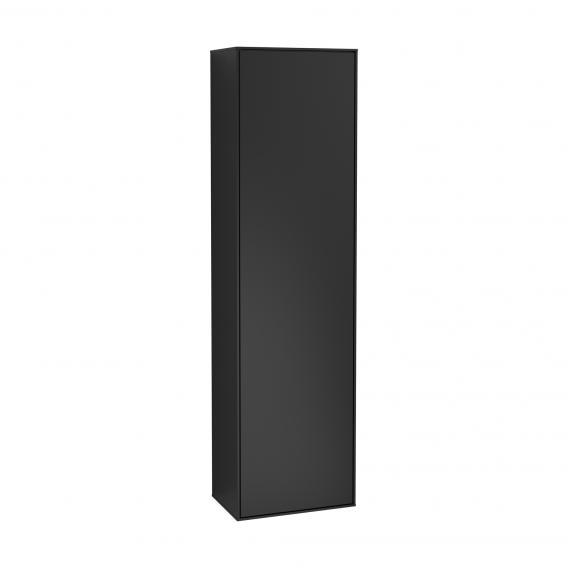 Villeroy & Boch Finion Hochschrank mit 1 Tür Front black matt / Korpus black matt