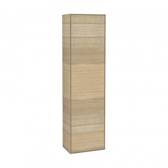 Villeroy & Boch Finion LED-Hochschrank mit 1 Tür Front oak veneer / Korpus oak veneer