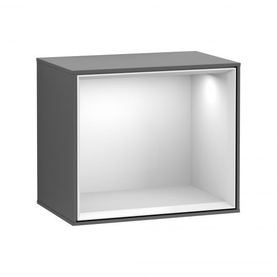 Villeroy & Boch Finion LED-Regalmodul anthracite matt/glossy white