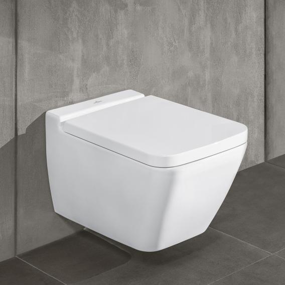 Villeroy & Boch Finion Wand-Tiefspül-WC, offener Spülrand, DirectFlush stone white, mit CeramicPlus