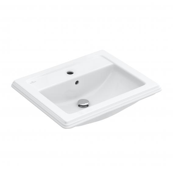 Villeroy & Boch Hommage Einbauwaschtisch weiß mit CeramicPlus mit 1 Hahnloch