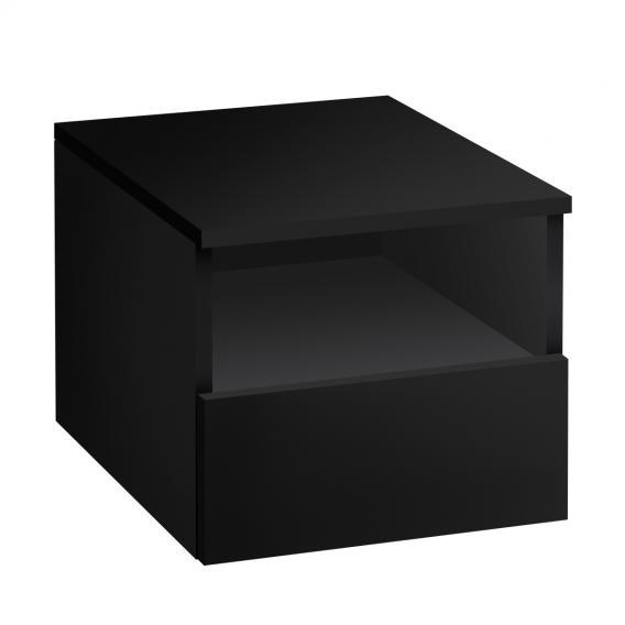 Villeroy & Boch Legato Anbauschrank mit Auszug Front black matt / Korpus black matt