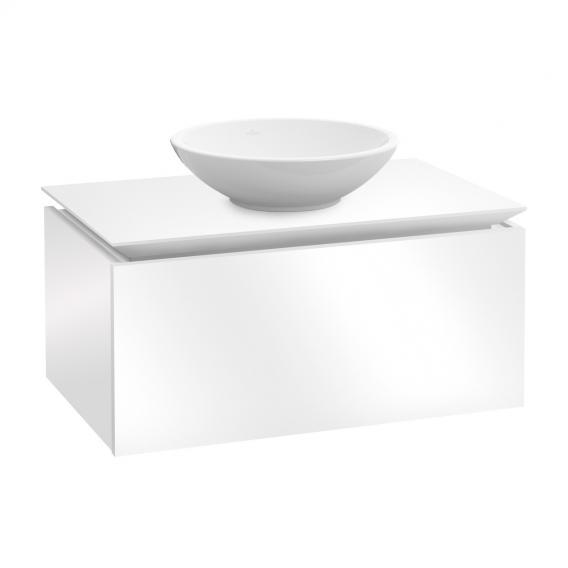 Villeroy & Boch Legato LED-Waschtischunterschrank für Aufsatzwaschtisch mit 1 Auszug Front glossy white / Korpus glossy white