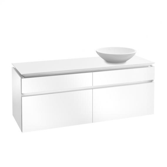 Villeroy & Boch Legato LED-Waschtischunterschrank für Aufsatzwaschtisch mit 4 Auszügen Front glossy white / Korpus glossy white