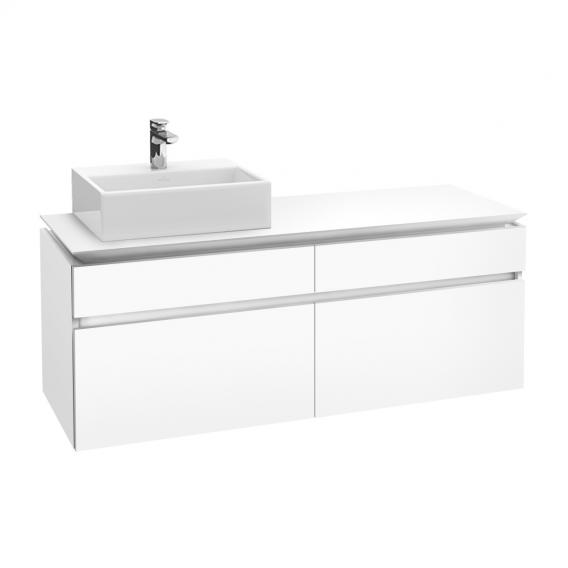 Villeroy & Boch Legato LED-Waschtischunterschrank für Aufsatzwaschtisch mit 4 Auszügen Front weiß matt / Korpus weiß matt