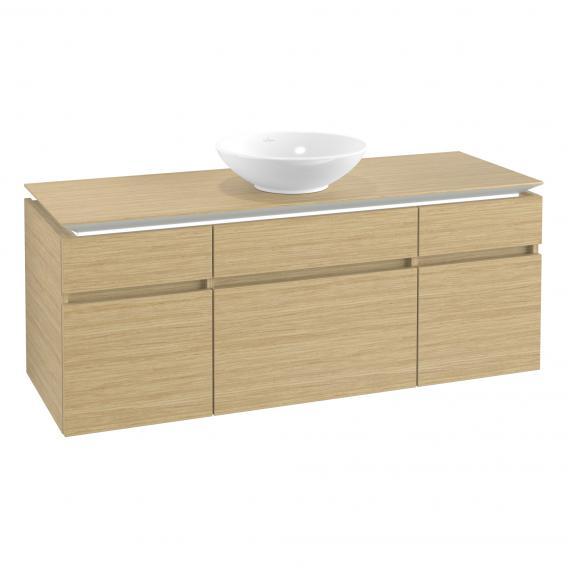 Villeroy & Boch Legato LED-Waschtischunterschrank für Aufsatzwaschtisch mit 5 Auszügen Front nordic oak / Korpus nordic oak